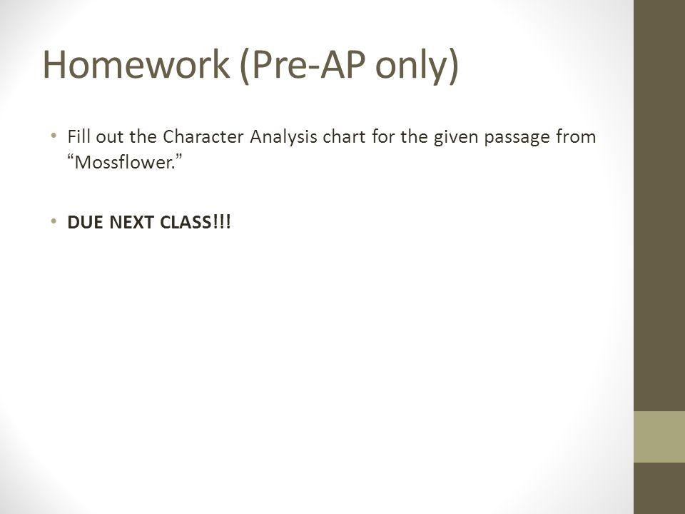 Homework (Pre-AP only)