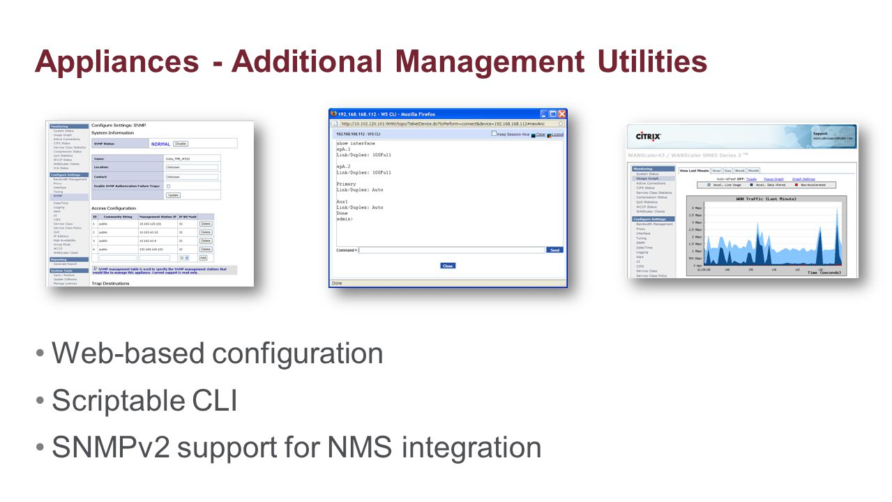 Appliances - Additional Management Utilities