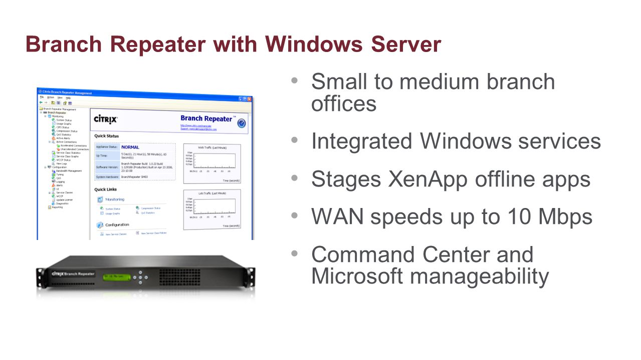 Branch Repeater with Windows Server