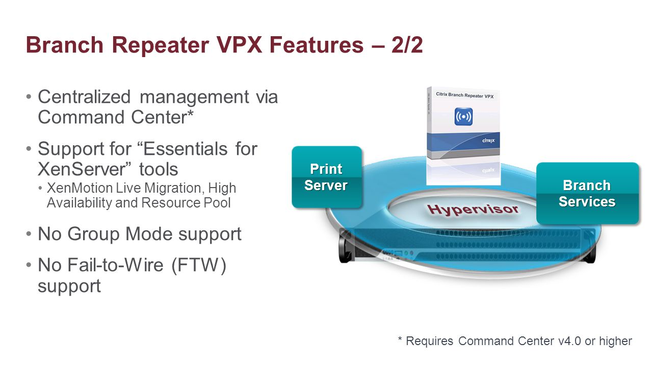 Branch Repeater VPX Features – 2/2
