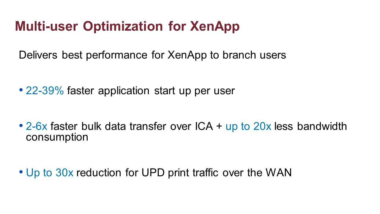 Multi-user Optimization for XenApp