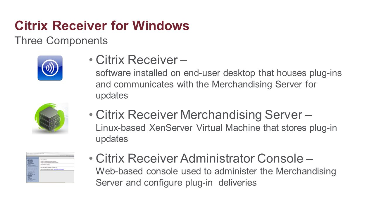 Citrix Receiver for Windows