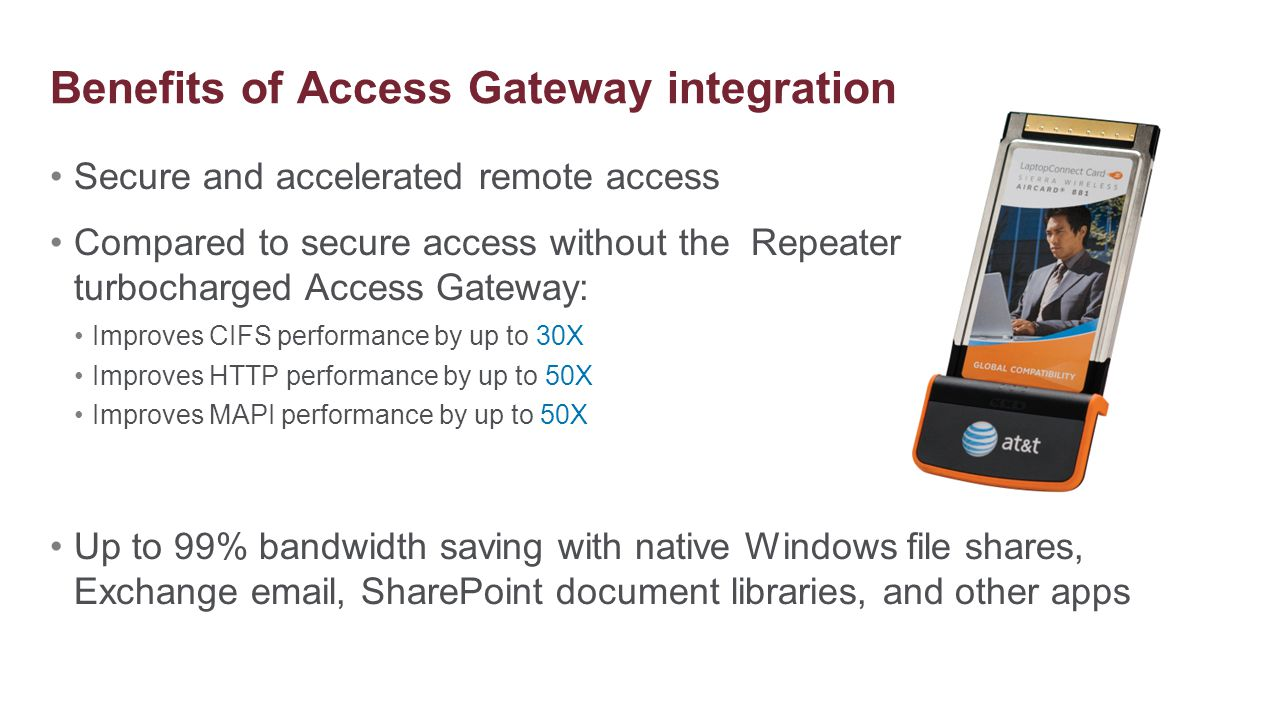 Benefits of Access Gateway integration