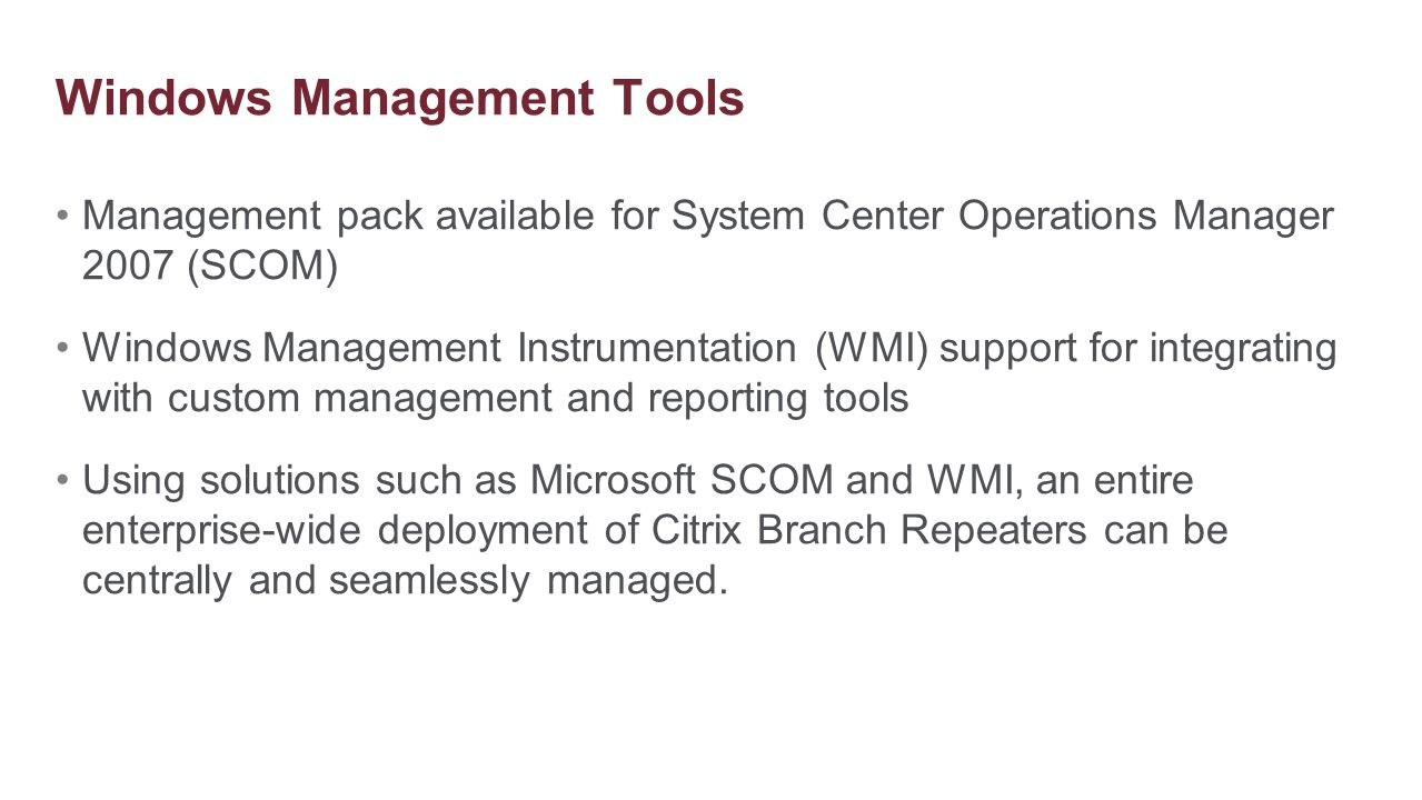 Windows Management Tools