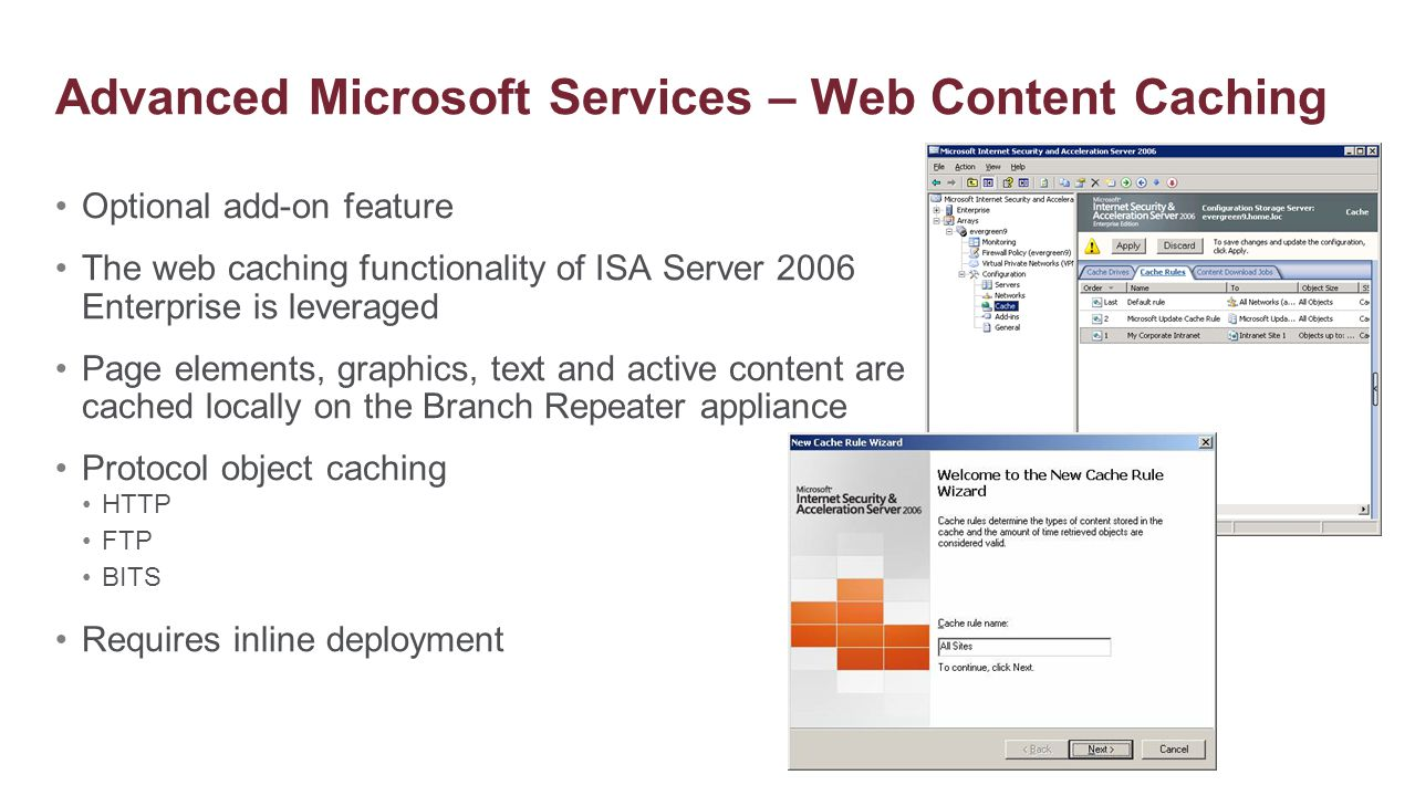 Advanced Microsoft Services – Web Content Caching