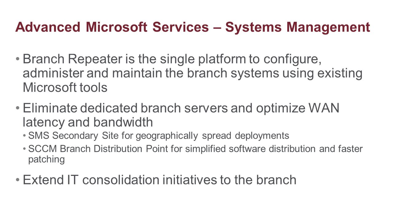 Advanced Microsoft Services – Systems Management