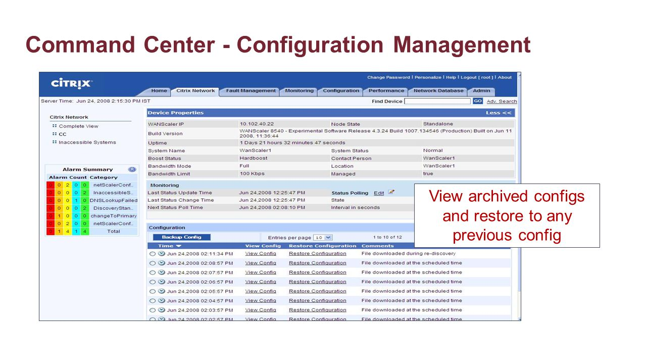 Command Center - Configuration Management