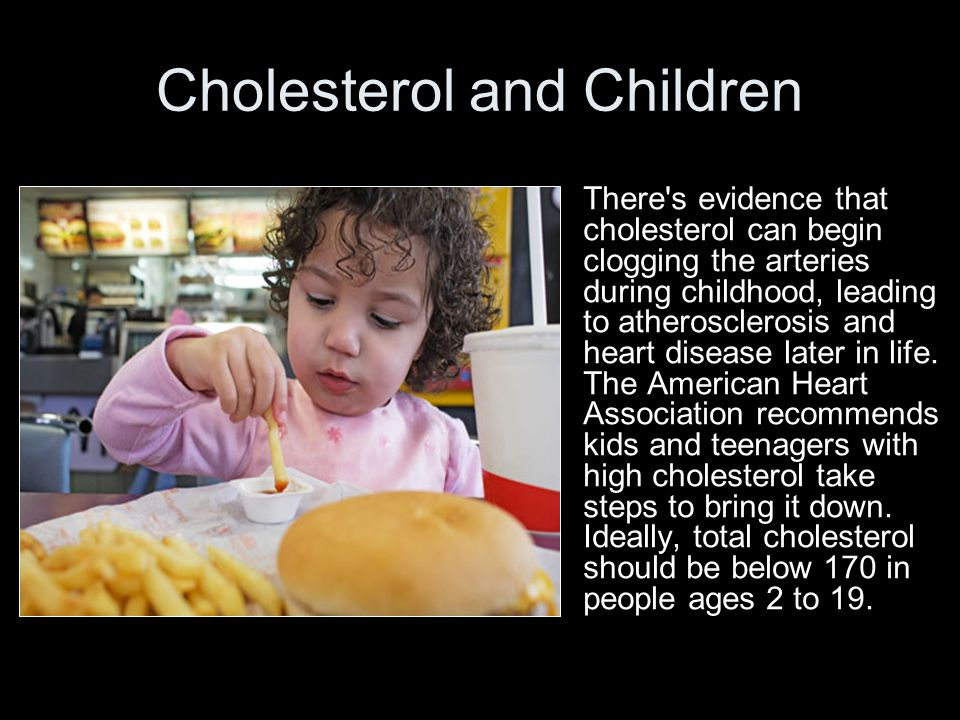 Cholesterol and Children