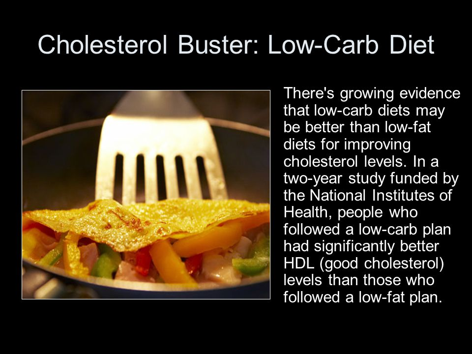 Cholesterol Buster: Low-Carb Diet