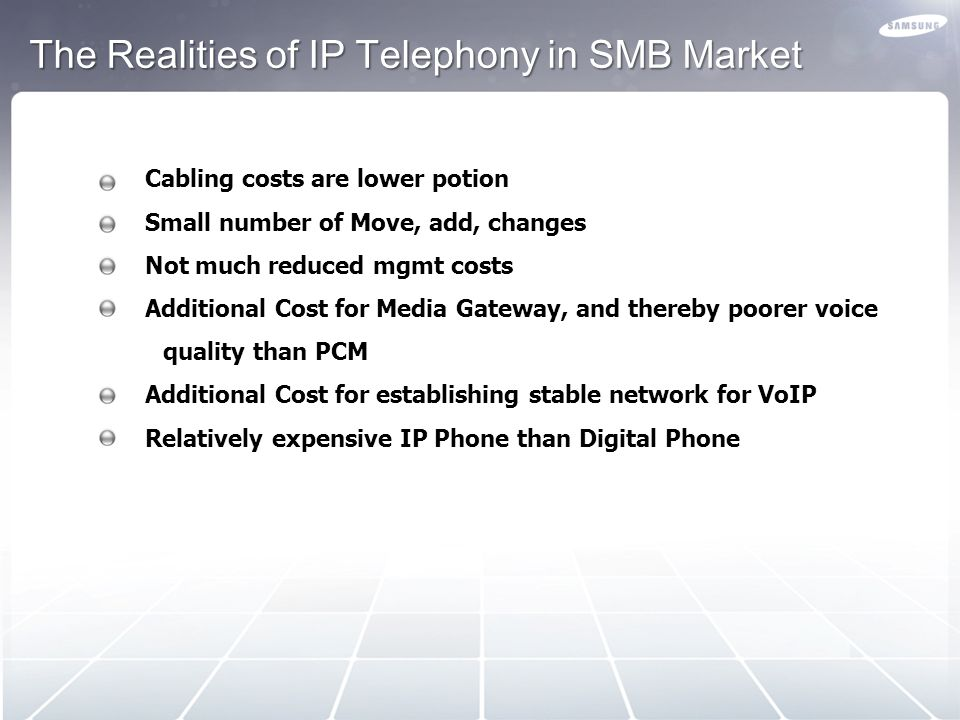 The Realities of IP Telephony in SMB Market