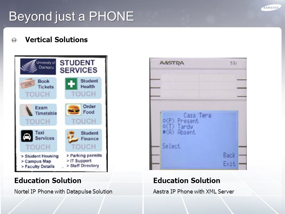 Beyond just a PHONE Vertical Solutions Education Solution