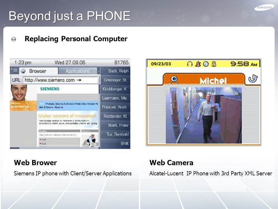 Beyond just a PHONE Replacing Personal Computer Web Brower Web Camera