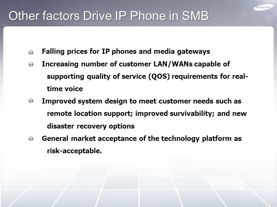Other factors Drive IP Phone in SMB