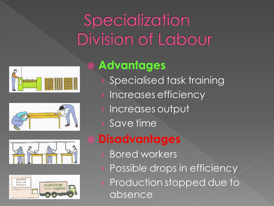 What is specialisation?