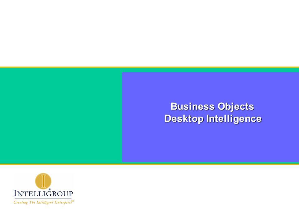 Business Objects Desktop Intelligence