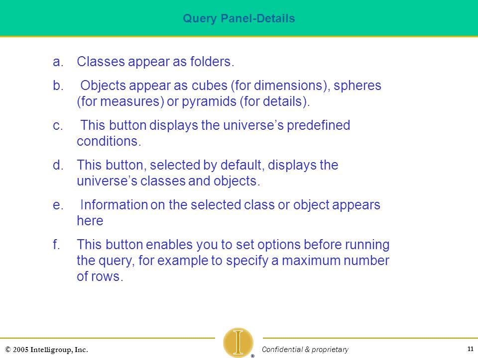 Classes appear as folders.