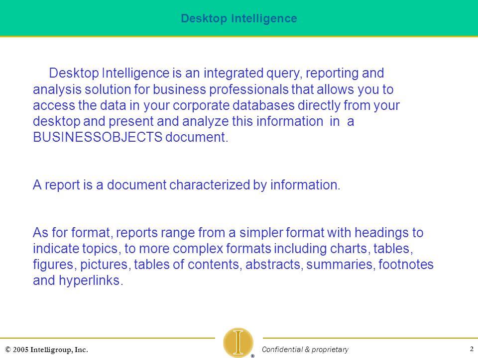 Desktop Intelligence