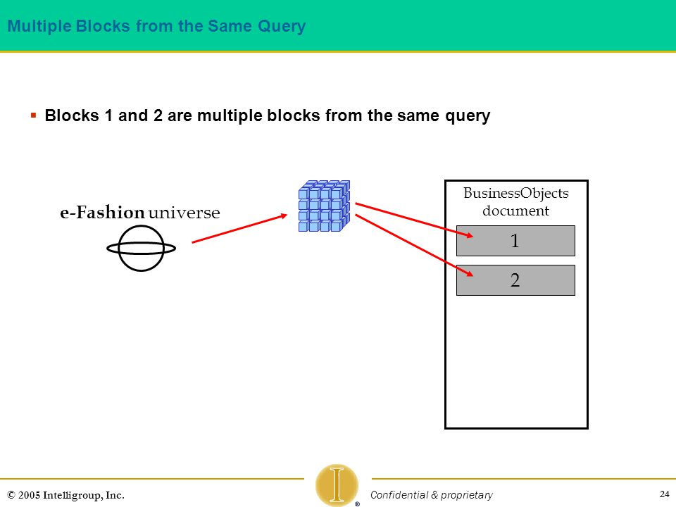 Multiple Blocks from the Same Query