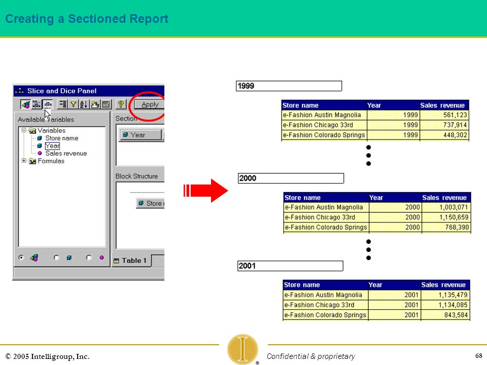 Creating a Sectioned Report