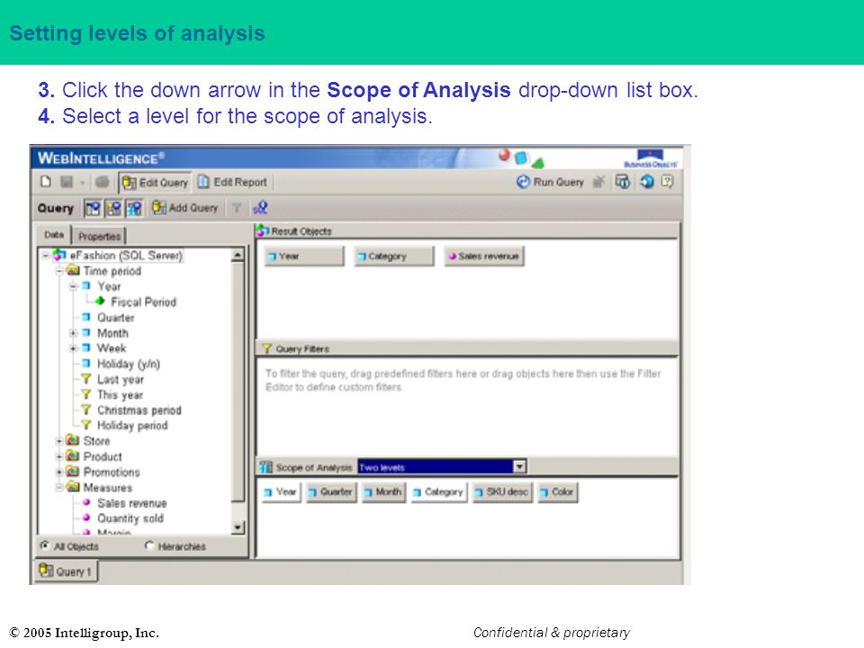 Setting levels of analysis