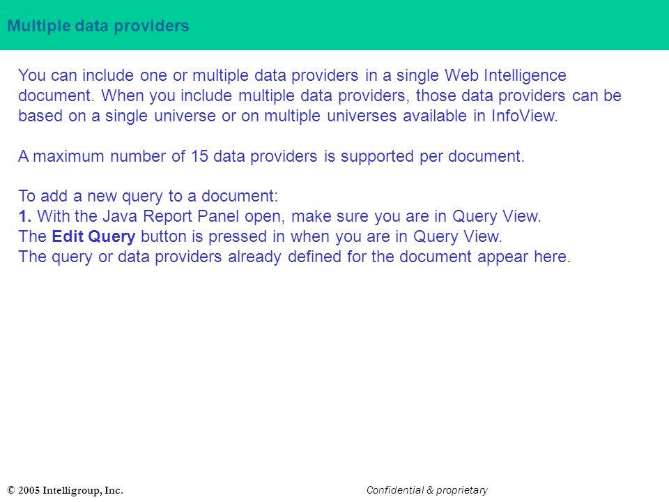 Multiple data providers