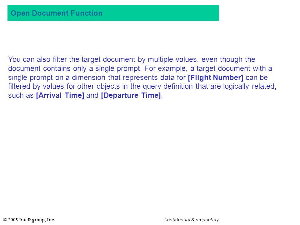 Open Document Function