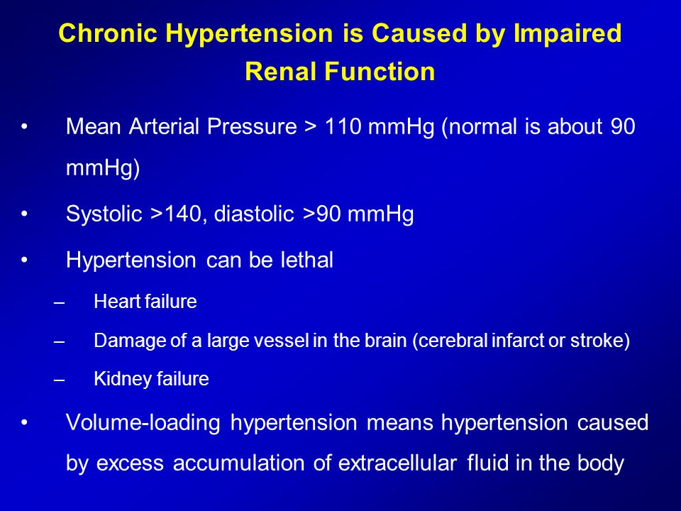 Chronic Hypertension is Caused by Impaired Renal Function