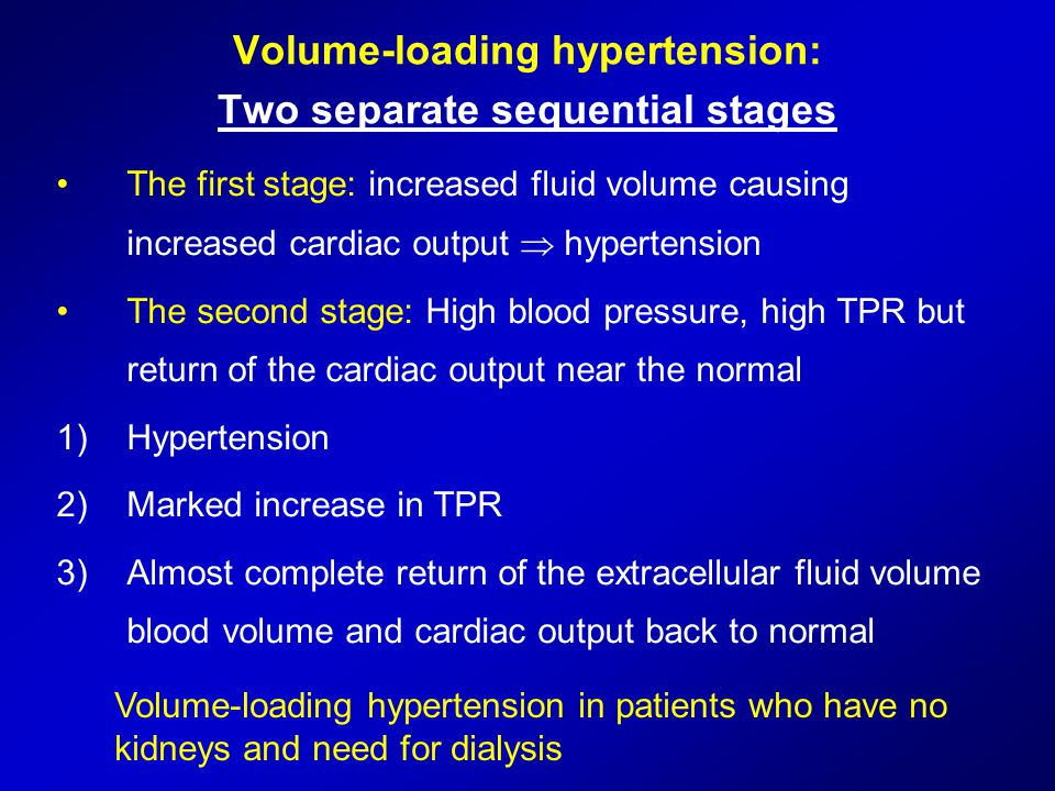 Volume-loading hypertension: Two separate sequential stages