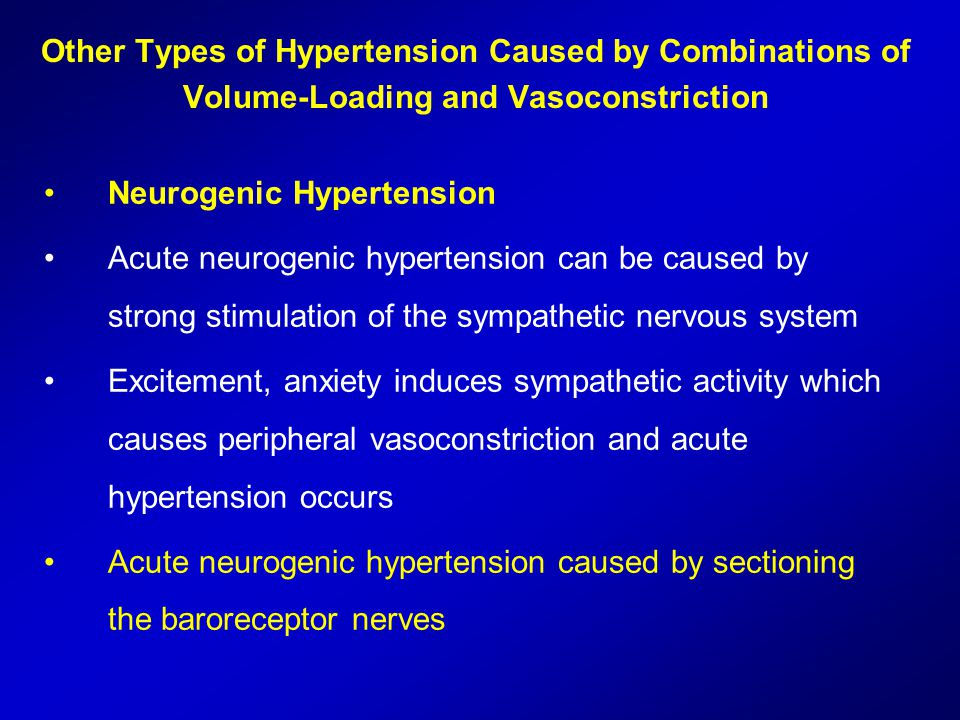 Other Types of Hypertension Caused by Combinations of Volume-Loading and Vasoconstriction