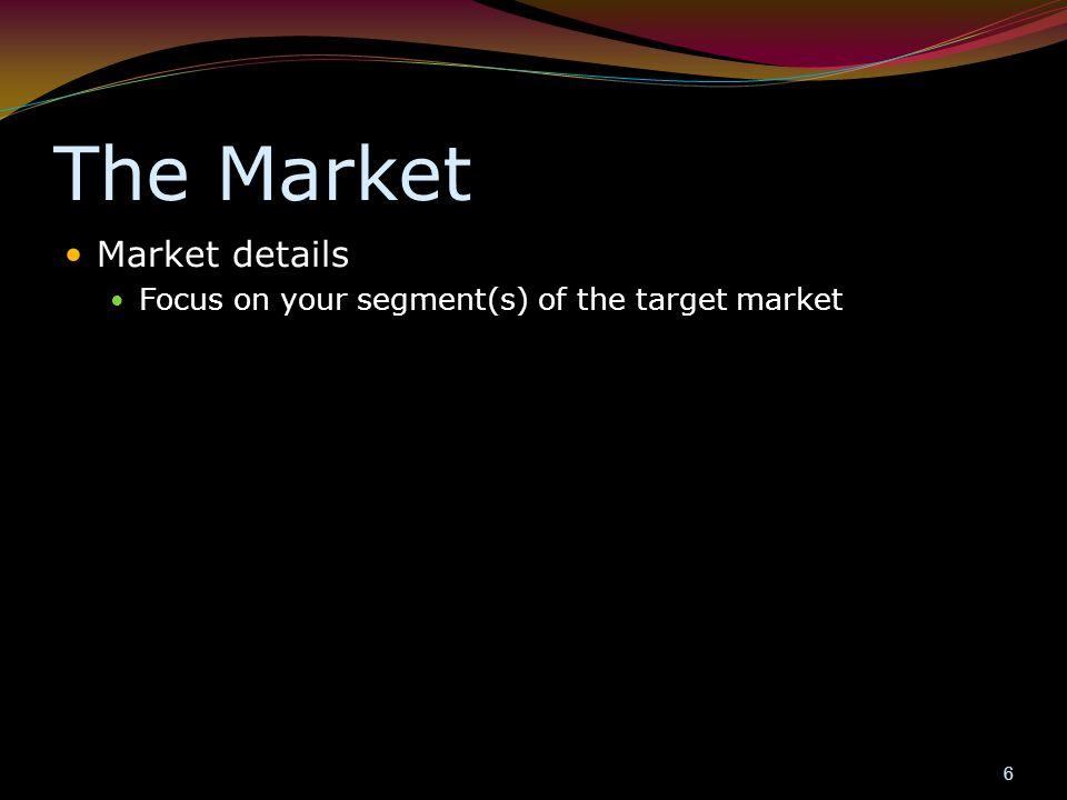 The Market Market details
