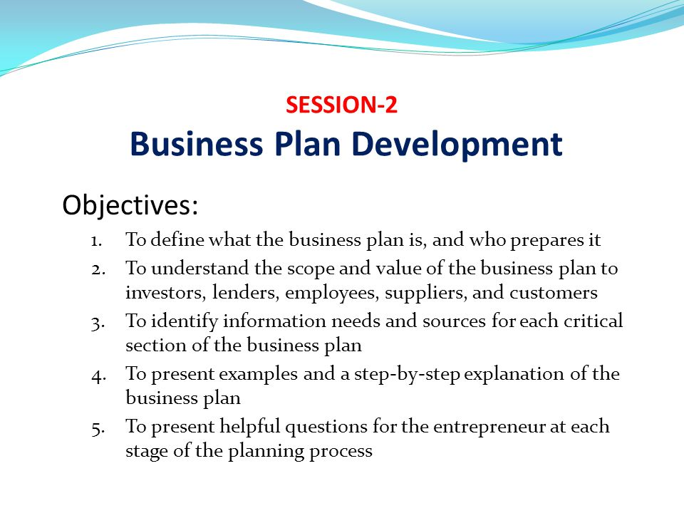 SESSION-2 Business Plan Development