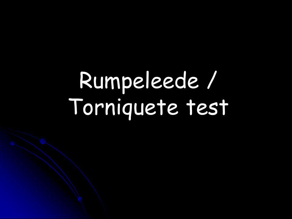 Rumpeleede / Torniquete test