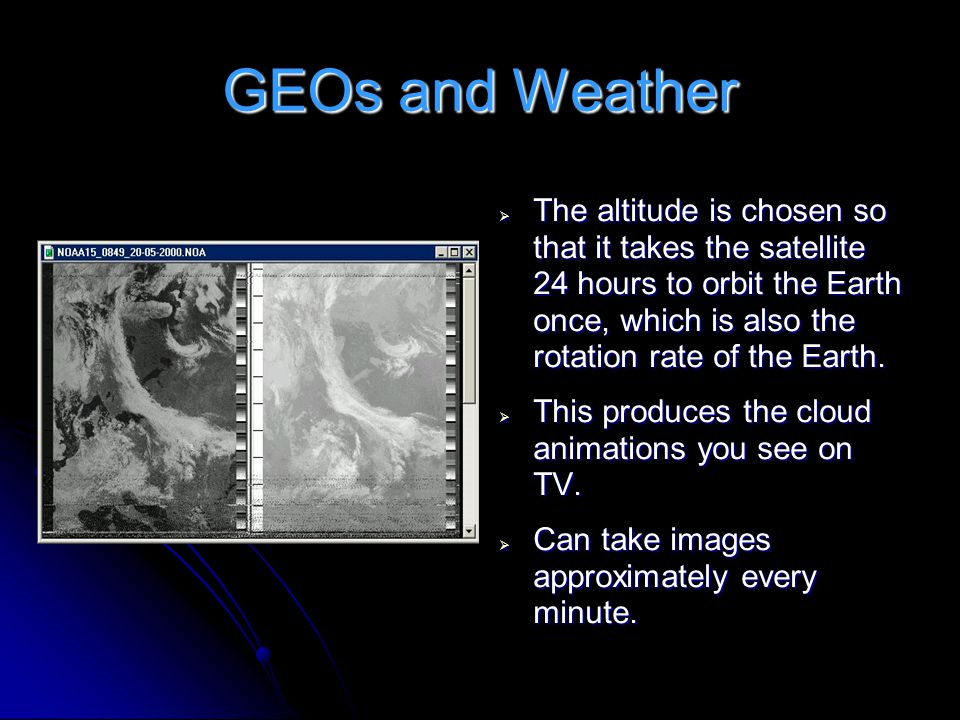 GEOs and Weather