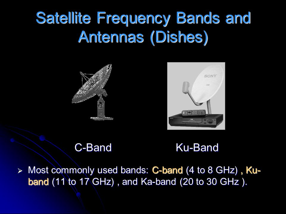 Satellite Frequency Bands and Antennas (Dishes)