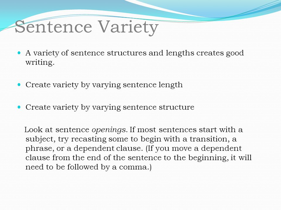 sentence length in business writing