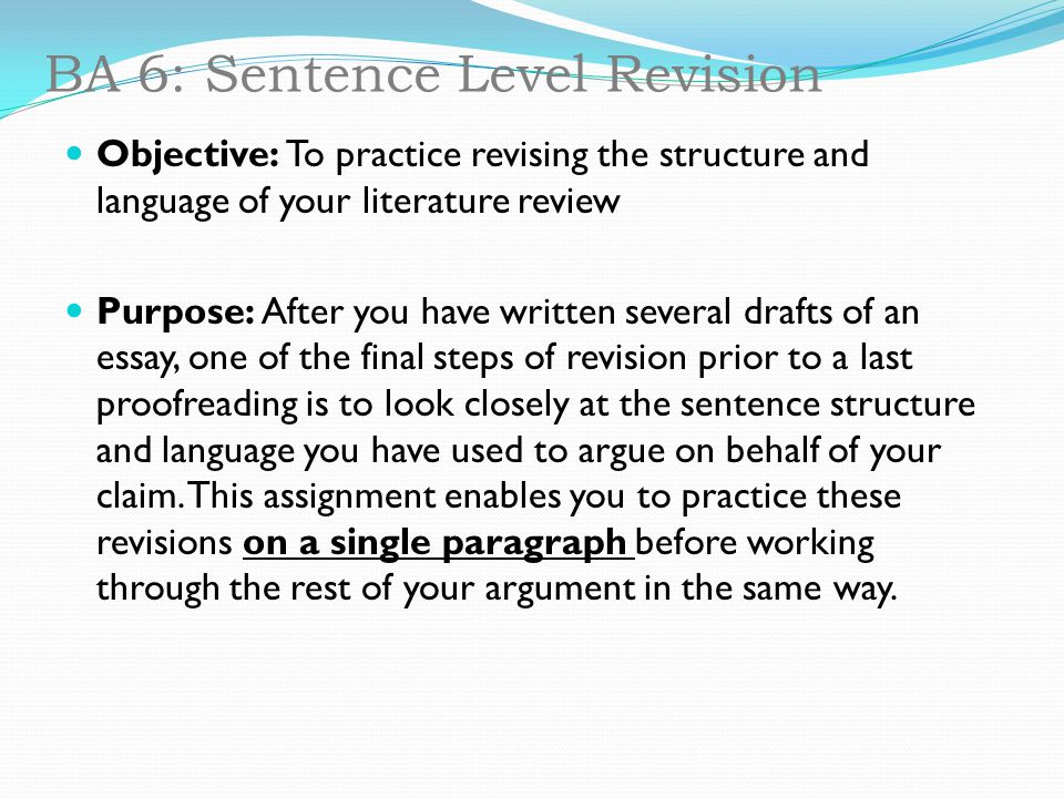 how to write a literature review structure