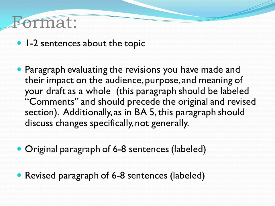 Format: 1-2 sentences about the topic