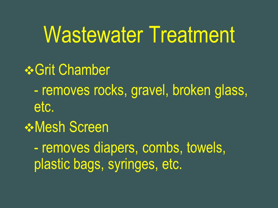Wastewater Treatment Grit Chamber