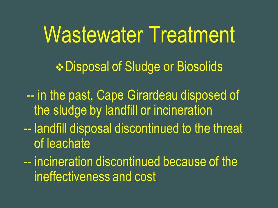 Disposal of Sludge or Biosolids