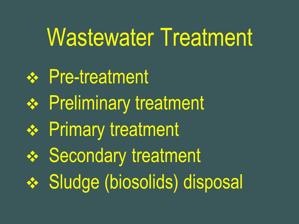 Wastewater Treatment Pre-treatment Preliminary treatment