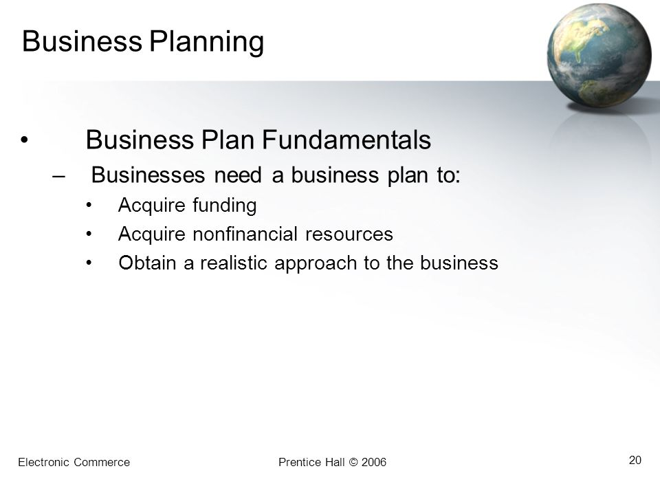 Business Planning Business Plan Fundamentals