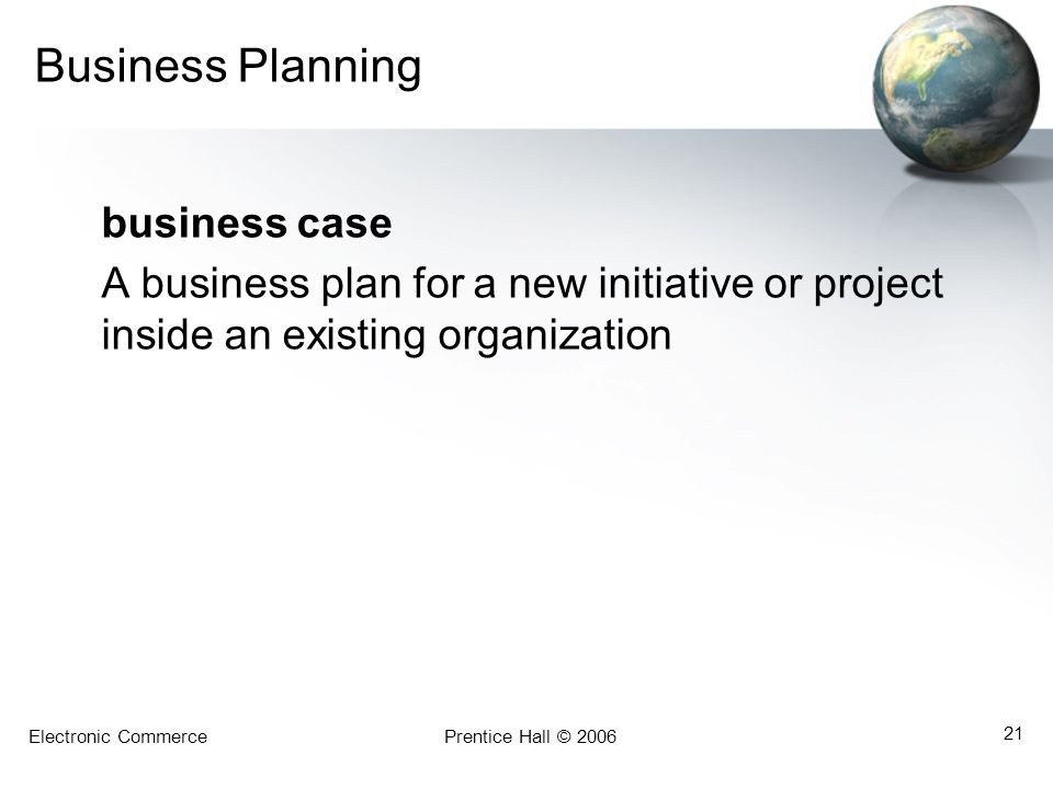 Business Planning business case