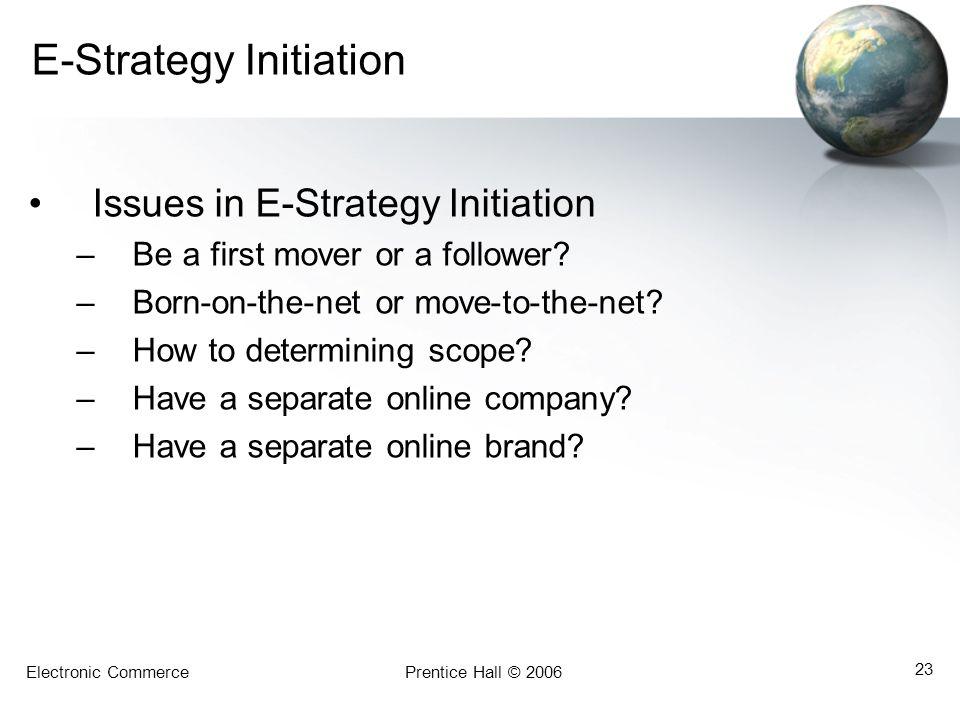 E-Strategy Initiation