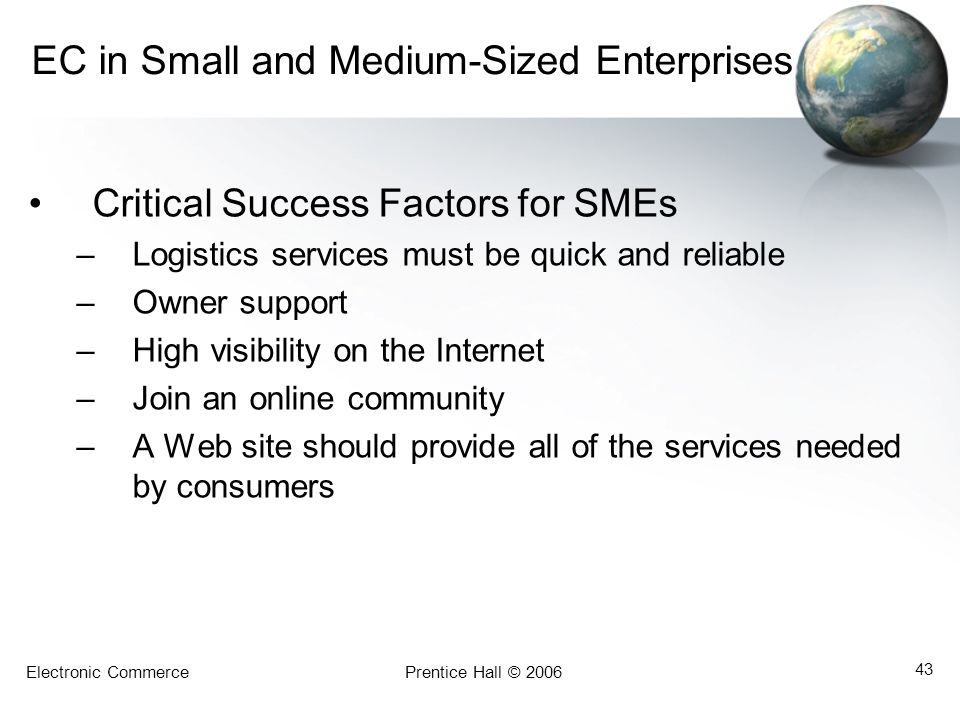 EC in Small and Medium-Sized Enterprises