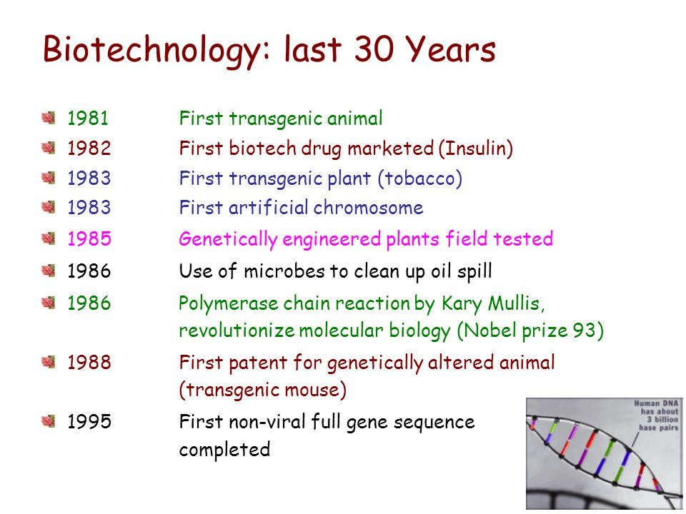 Biotechnology: last 30 Years