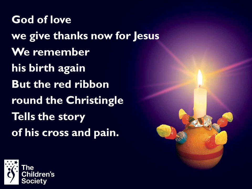 we give thanks now for Jesus We remember his birth again