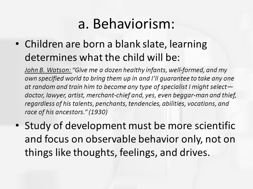 "children are born as a blank slate essay The an essay concerning human understanding community note includes   how knowledge is acquired is the ""tabula rasa"" or blank slate that exists at birth   plus 2 equals four be considered innate, his essay, asks, when every child  must be  simple concepts despite supposedly being born with them already in  place."