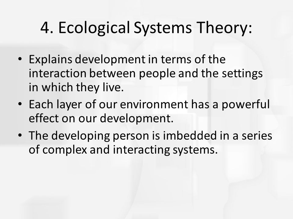 4. Ecological Systems Theory: