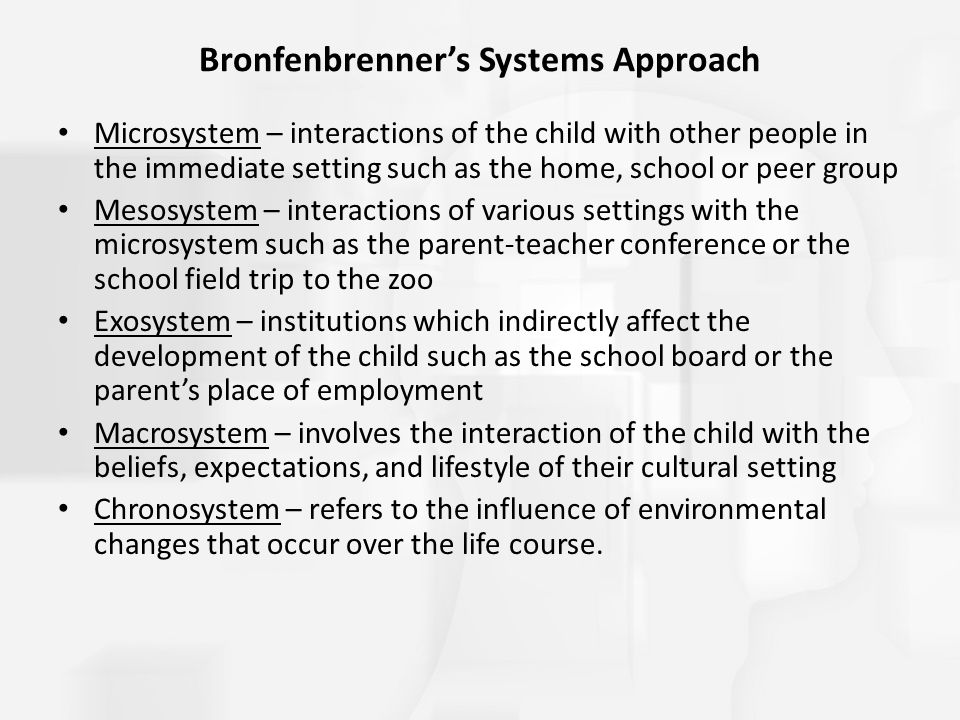 Bronfenbrenner's Systems Approach