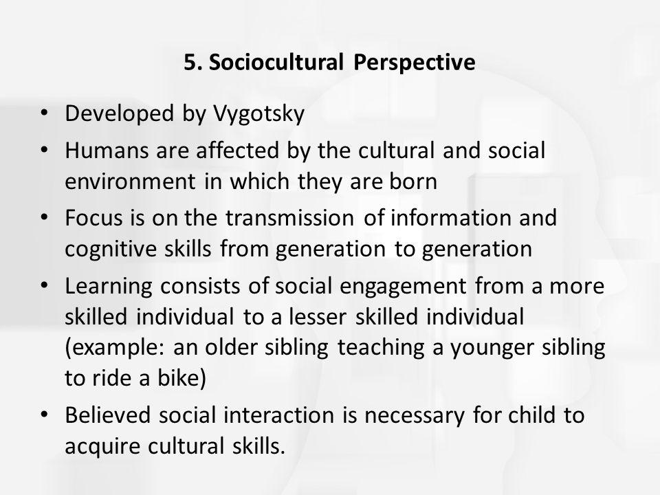 5. Sociocultural Perspective